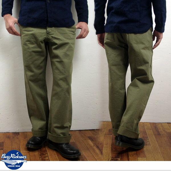 olive twill pants - Pi Pants