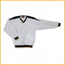 ★ Each high gold long sleeves V neck jacket (back tricot raising) HRD-5035 white X navy X gold piping size