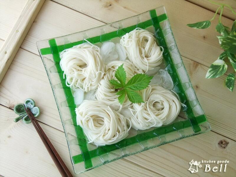 手工制作 vidro 玻璃板材 (正方形形状),竹绿 19.5x19.