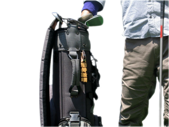 on golf bag