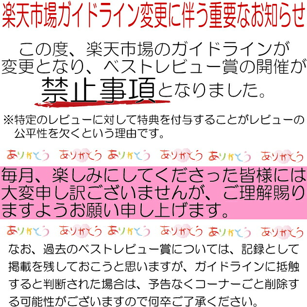 レビューキャンペーン終了のお知らせ
