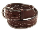 KC, s (ケイシイズ) 1 1 / 2 inch harness belts saddle-stitched-KID002 ◆ resabelt ◆