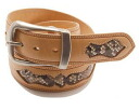 1 KC,s( Kay chinquapin) three-quarters inch Lubbock belt -KMD001 ◆ leather belt◆