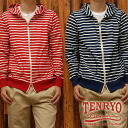 "Kurashiki Imperial demesne denim (TENRYO DENIM) horizontal stripe zip up Parker ""TDC009 ""◆ American casual / men / Lady's""◆"