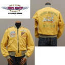 "TOYS McCOY toys McCoy flight jacket L-2 CIVILIAN VERSION ""FLYING PANCAKE XF5U"" TMJ1401 gold ◆ American casual / men◆"