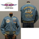 "TOYS McCOY toys McCoy flight jacket L-2 CIVILIAN VERSION ""FLYING PANCAKE XF5U"" TMJ1401 blue gray ◆ American casual / men◆"