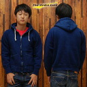ストライクゴールド Indigo dyeing THE STRIKE GOLD hanging knit full ZIP sweat parka plain 'SGC004ID' Indigo out ◆ casual ◆