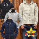 ストライクゴールド THE STRIKE GOLD hanging knit full ZIP sweat parka plain 'SGC004' ◆ casual ◆