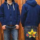 ストライクゴールド Indigo dyeing THE STRIKE GOLD hanging knit full ZIP sweat parka plain 'SGC004ID' Indigo out ◆ casual ◆