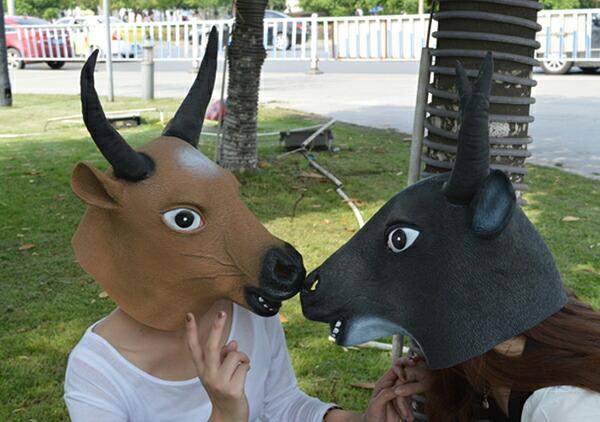 水牛城面具 [牛母牛母牛牛野牛头饰面具动物动物动物面具卡门舞会万圣