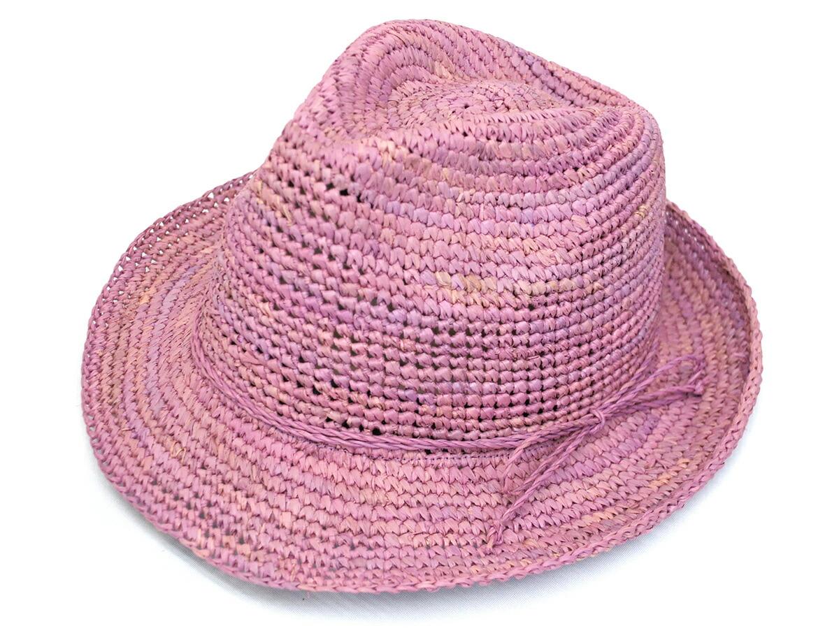 简单的钩针拉菲草帽子帽子