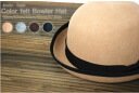 Sizes galore! Wool 100% color felt ☆ Bowler Hat