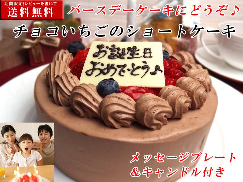 チョコいちごショートケーキ