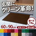 Excellent water absorption (excluding Hokkaido and Okinawa and remote islands) and stain remover universal door mat standard eco 60x90cm plain (made in Japan) indoor and indoor / outdoor cum for