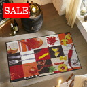 Washable kitchen mat 50x75cm indoor, outdoor combined use that 50% OFF outlet sale wash+dry (wash Ann dodo rye) La Cocina is thin (except Hokkaido, Okinawa and the remote island), and is durable