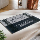 Wash+dry ( ウォッシュアンドドライ ) (excluding Hokkaido and Okinawa and remote islands) Welcome & Goodbye slim, sturdy washable door mat 50 x 75cm屋 in and outdoor use