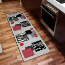 Washable kitchen mat 60x180cm indoor, outdoor combined use that wash+dry (wash Ann dodo rye) Kitchen Squares is thin (except Hokkaido, Okinawa and the remote island), and is durable