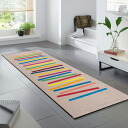 Washable kitchen mat 60*180cm indoor, outdoor combined use that wash+dry (wash Ann dodo rye) Mixed Stripes is thin (except Hokkaido, Okinawa and the remote island), and is durable