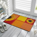 Wash+dry ( ウォッシュアンドドライ ) (excluding Hokkaido and Okinawa and remote islands) Sunflower thin, sturdy washable door mat 50x75cm indoor and outdoor combined