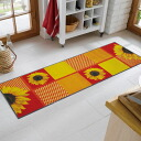 Washable kitchen mat 60x180cm indoor, outdoor combined use that wash+dry (wash Ann dodo rye) Sunflower is thin (except Hokkaido, Okinawa and the remote island), and is durable