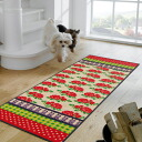 Washable kitchen mat 60x180cm indoor, outdoor combined use that wash+dry (wash Ann dodo rye) English Garden is thin (except Hokkaido, Okinawa and the remote island), and is durable
