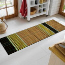 Wash+dry ( washanddry ) (excluding Hokkaido and Okinawa and remote islands) Modern Rattan thin, sturdy washable kitchen mats 60x180cm in indoor and outdoor combined