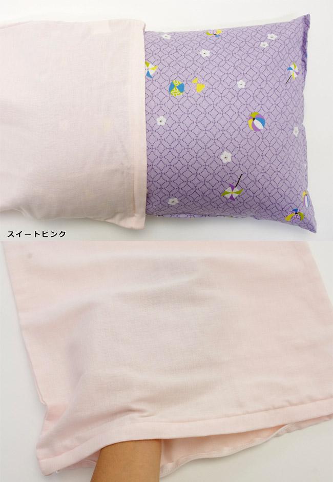 ガーゼの透け感/ピンク