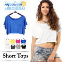 Short-sleeved short length T-shirt ☆ 73%OFF with the breast pocket♪