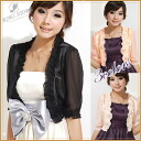 ★ 7-perfect for the party short-length Bolero sleeve! ☆☆ 67% 3 colors