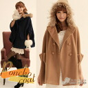 The ◎ poncho silhouette coat which I go to ★ with the food, and is comfortable♪