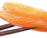 スッと伸びた太い金糸はプリプリの食感!