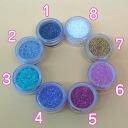For nail shimmer glitter (-3 g plastic case )