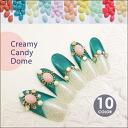 クリーミィキャンディ dome ( 20 pieces ) nail part Crea Crea part nail part nail stone