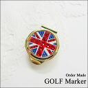 Deco Golf marker ★ Swarovski-Union Jack pattern ★ ball marker with a clip for golf