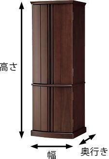 お仏壇の引き取りに必要な寸法は、高さ+横幅+奥行きの三辺を合計した寸法になります。
