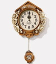 Tea knee Rose brown wall hangings pendulum clock B