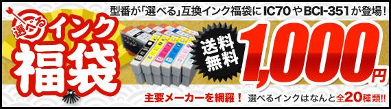 数量限定 1000 円!選べるインク福袋