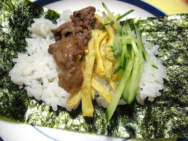 肉炒め錦糸卵