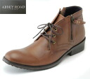 Disposal price! [Abbey Road men's casual boots ankle-length boots ab5213 Brown