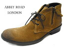 Disposal price! [Abbey Road men's casual boots ankle-length boots ab5213 camel suede