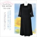 yumikatsura summer black formal seven minutes sleeve mourning dress / formal dress / Buddhist memorial service / Buddhist memorial service /7, 9, 11, 13, 15 Mrs. four circle