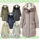 Down coat M/L/LL gray / beige / pink / khaki / navy / black with レッキスファー