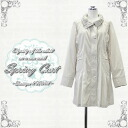 Lady's coat volume neck design light overcoat size /M, L color / sand beige