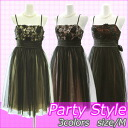 チュールレイヤード party dress size m color