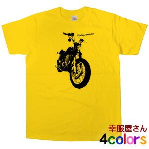 SR400ビンテージトラッカーカスタム半袖Tシャツ