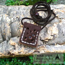 Cowhide leather necklace! Pendant! for both men.