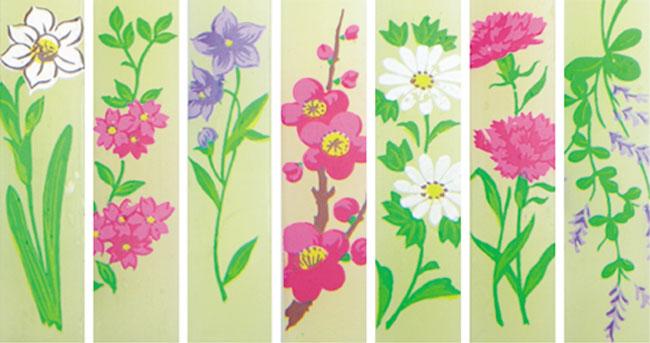 鲜花说明蜂蜜蜡烛 | 7 种季节性花卉 | 蜂蜜蜡烛 16 7 助理 (纸盒)