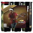 「 윌슨 페어 」 Wilson (윌슨) 「 US OPEN EXTRA DUTY (엑스트라 듀티) Federer 3 캔 팩 × 8 〔 72 공 〕 WRT107100P-3 」 테니스 공을