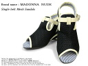 spr10P05Apr13 single belt mesh sandals black Lady's