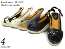women's 02P13Dec13's spr10P05Apr13 single-belt wedge sole sandal 4 colors